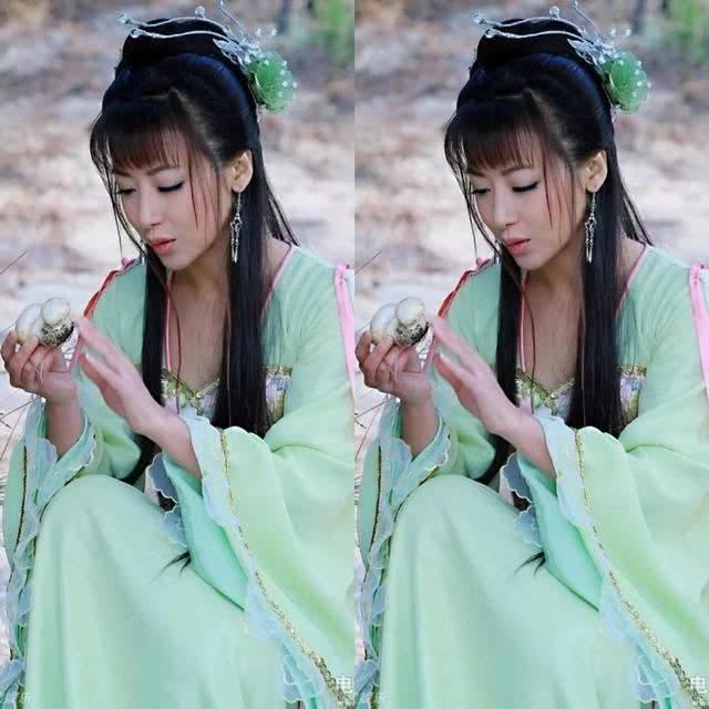 『古装』赵丽颖最可爱,郑爽最清纯,让人眼前一亮的水青色古装女神