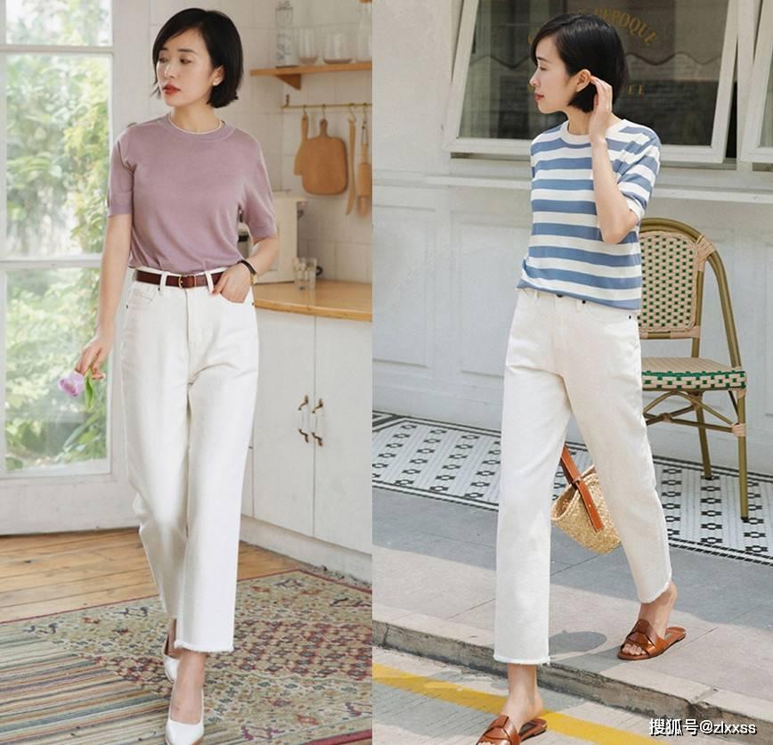 夏天牛仔裤也能穿得优雅高级!美女教你穿搭方法,时尚又清凉