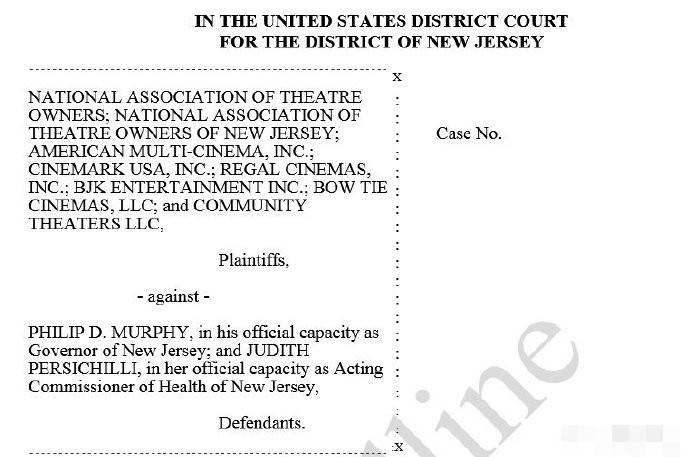 被禁止复业 美国多家电影院状告新泽西州长