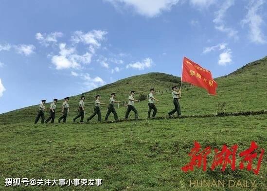 武警邵阳支队城步中队官兵上南山哨所庆建军