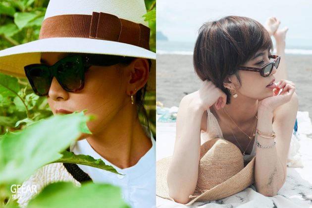 夏天少不了墨镜,女星都纷纷戴起了同个品牌的新款!
