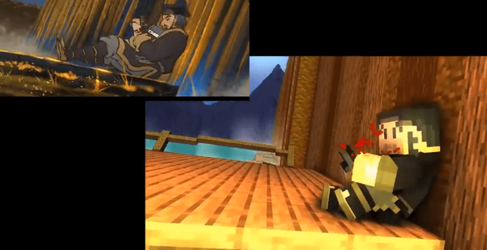 B站神仙up主用MC动画还原《雾山五行》 打斗场面刀剑相撞感激烈