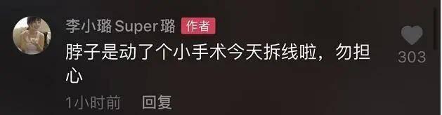 李小璐脖子上做手术,未泄漏病因引担心,网友劝其不要太冒死(图6)
