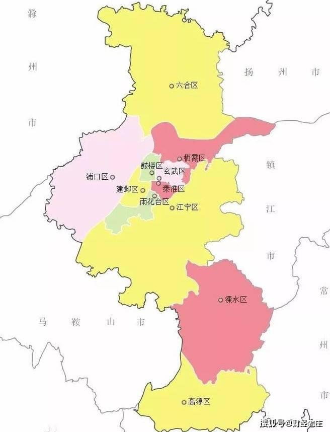南京各区gdp_南京各区地图