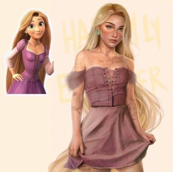 真實不一定美好,看看這個超寫實的艾莎女王,這畫風我欣賞不來