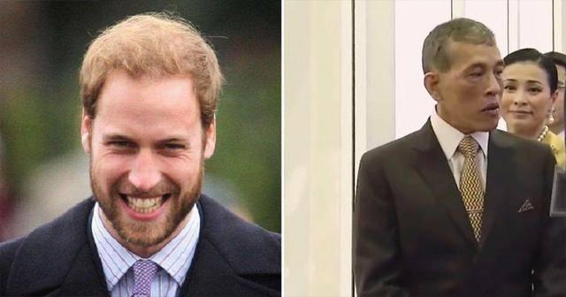 原创             泰王发量告急!头发稀疏遮不住撞头威廉王子,脸上爬满老年斑