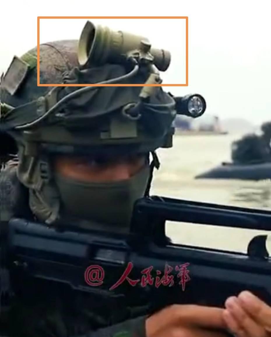 终于跟上世界潮流,海军陆战队装备新型夜视仪,夜间登陆起大作用