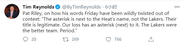 星號不該給湖人!熱火Riley公開發聲,回應爭議:湖人冠軍是合法的!-黑特籃球-NBA新聞影音圖片分享社區