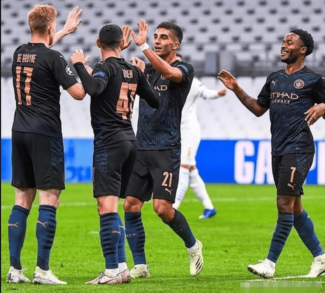 曼城3-0屠戮欧冠冠军!德布劳内献2助攻,京多安和费兰连场进球