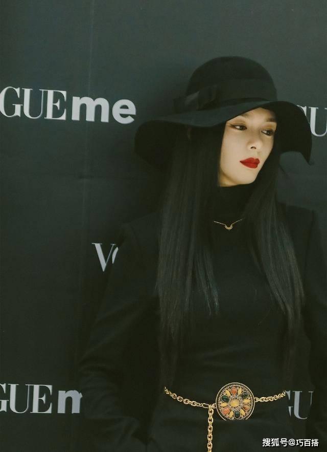 傅菁身材也太优越了!黑色礼帽穿出优雅时尚,全黑色造型又酷又美