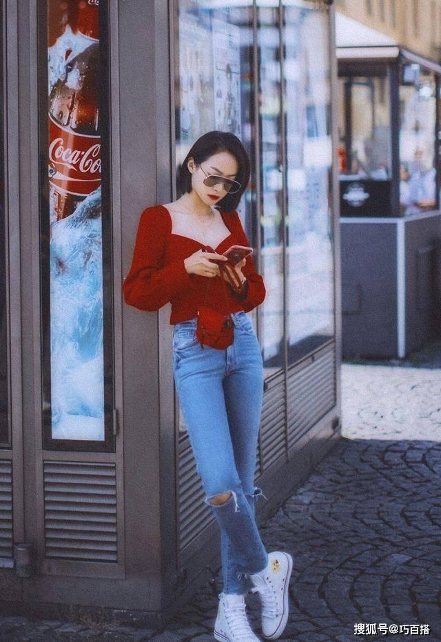 """原创             宋茜为了时尚不怕冷!羽绒服搭配破洞裤走机场,""""甘蔗腿""""太惊艳"""
