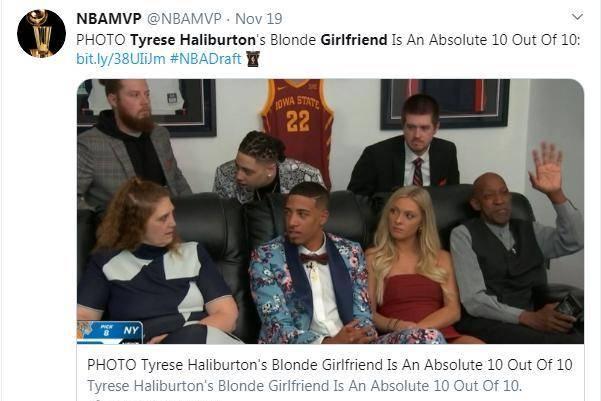 NBA选秀成了八卦大会!12号新秀女友走红!一夜之间涨粉过万