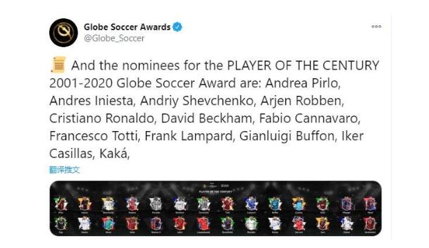 """依旧是C罗和梅西争霸!举世足球奖宣布近20年最佳球员28人候选!""""亚博APP"""""""
