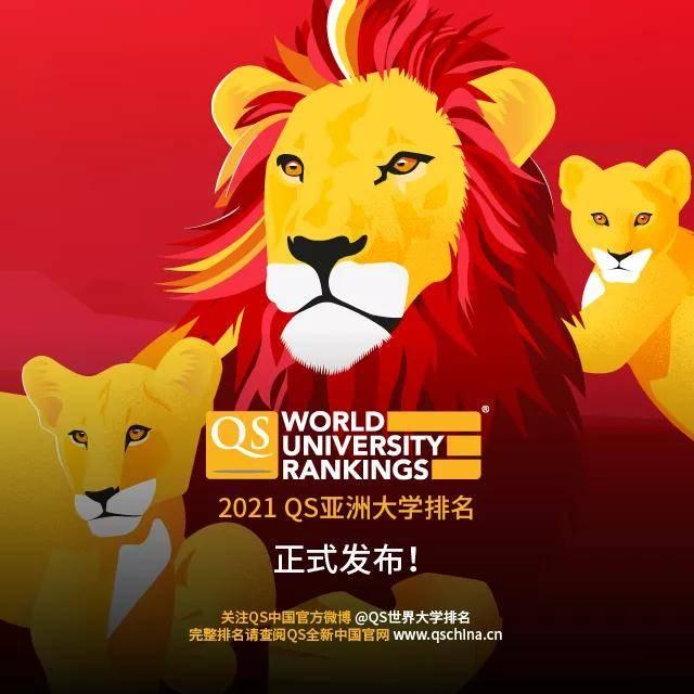 2021年QS亚洲大学排名:中国高校排名再创历史新高!