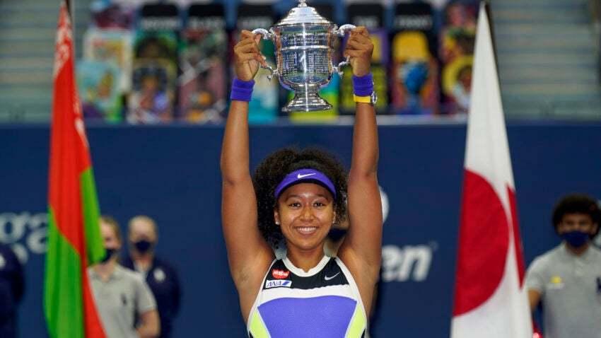 日本女子网球运动员大阪直美被评选为年度最佳女运动员