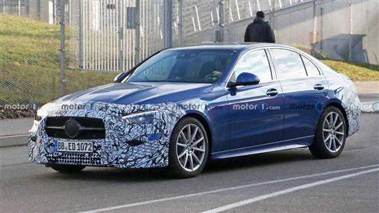 全新梅赛德斯-奔驰c级混合版间谍照片将于明年正式发布