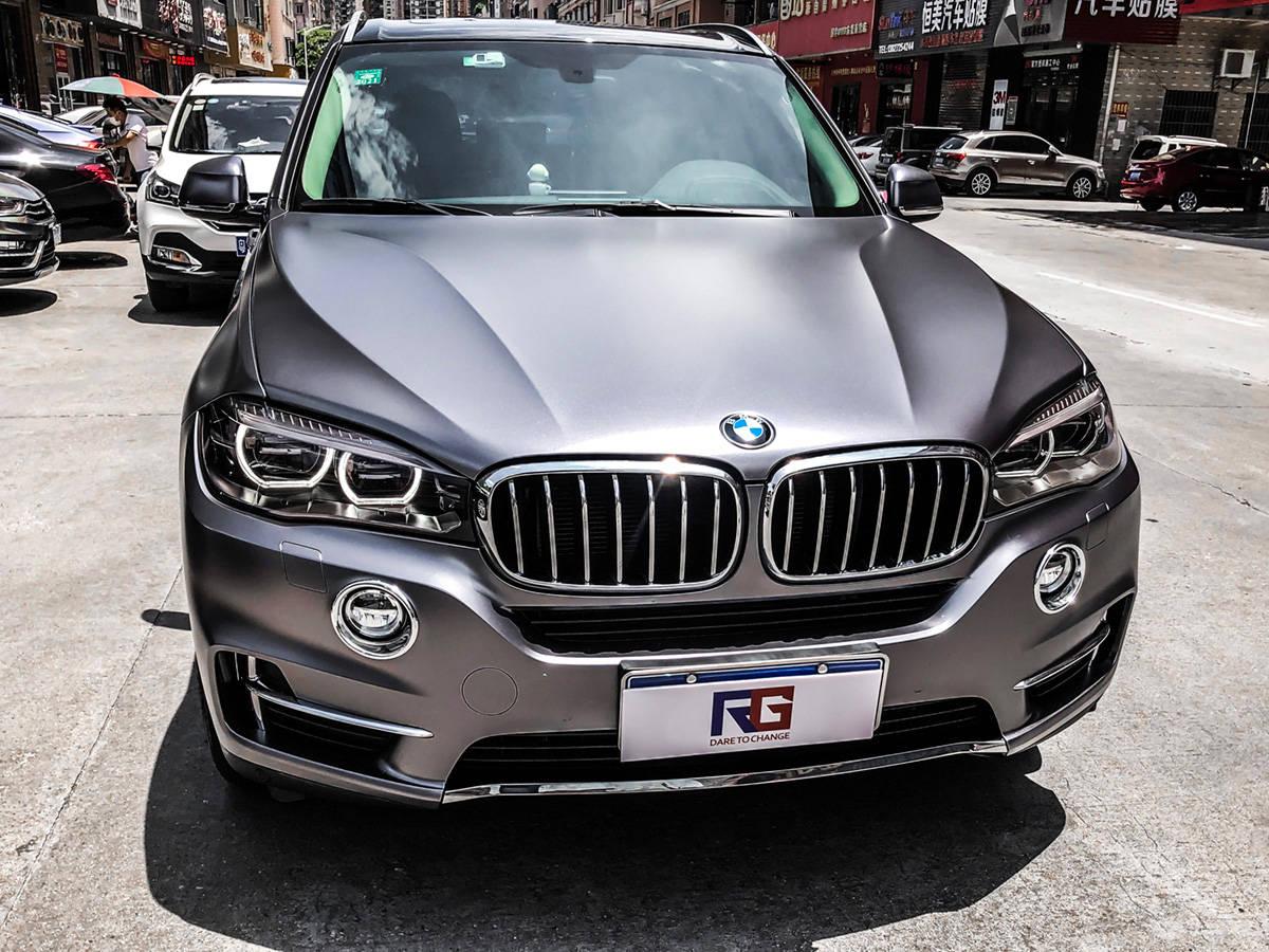 宝马X5车身变色电光碳灰RG瑞奇变色膜东莞厚街