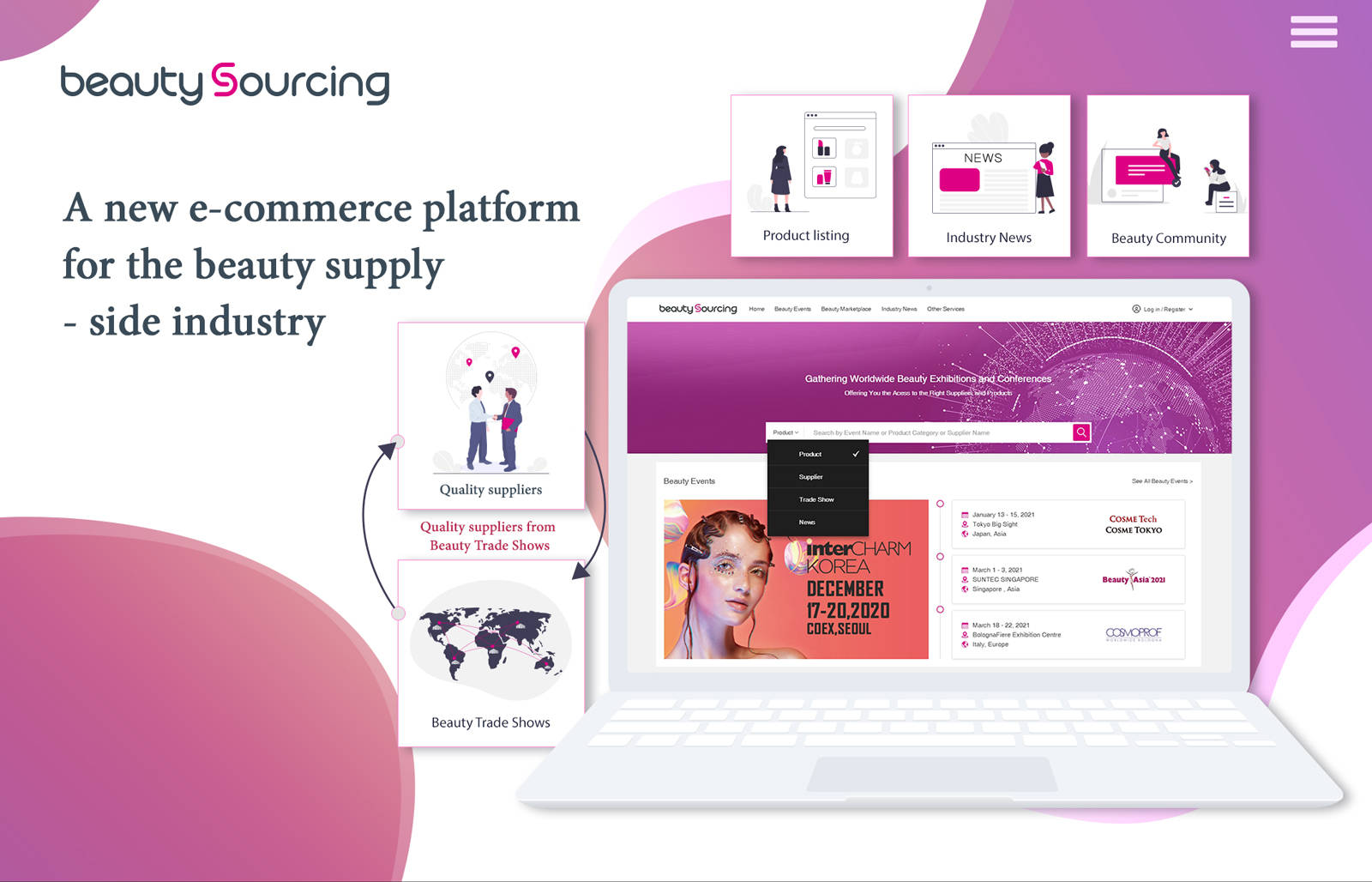 BeautySourcing后疫情时代采购新渠道 美容供应链电商平台