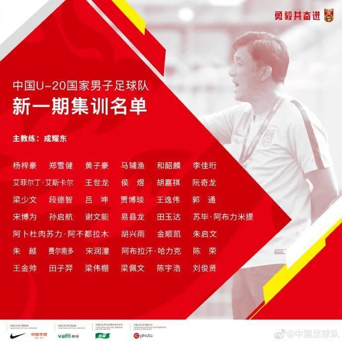 U20国足集训名单:贾博琰在列 鲁能7人恒大申花各5将
