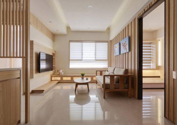 原木色的日式空间,设计简约家居氛围很温馨,全屋通透明亮很清爽!