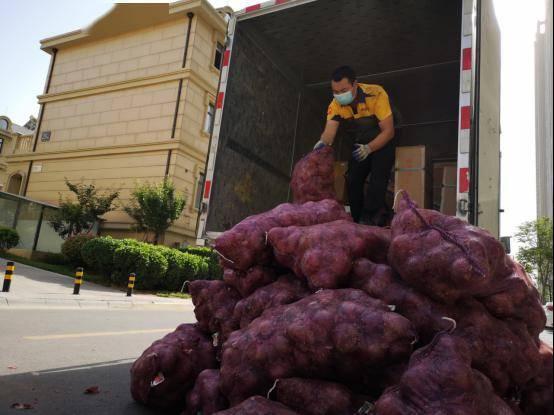 女孩网购1吨洋葱送前男友 壮观的场景被小区居民拍到
