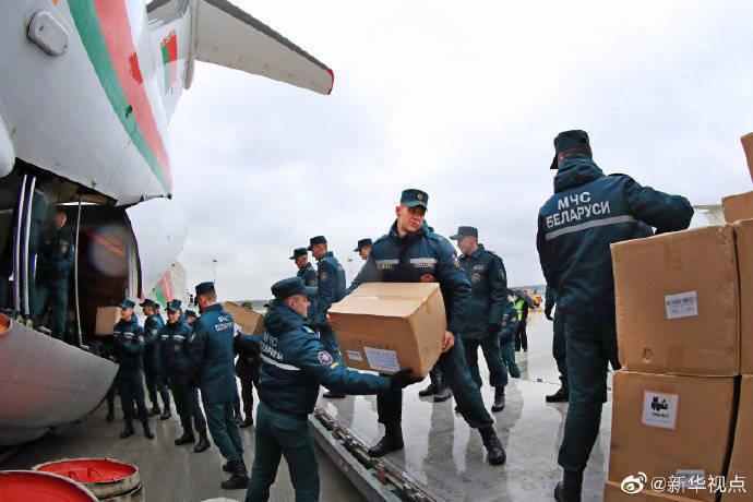 白俄罗斯第四次从中国运回防疫物资