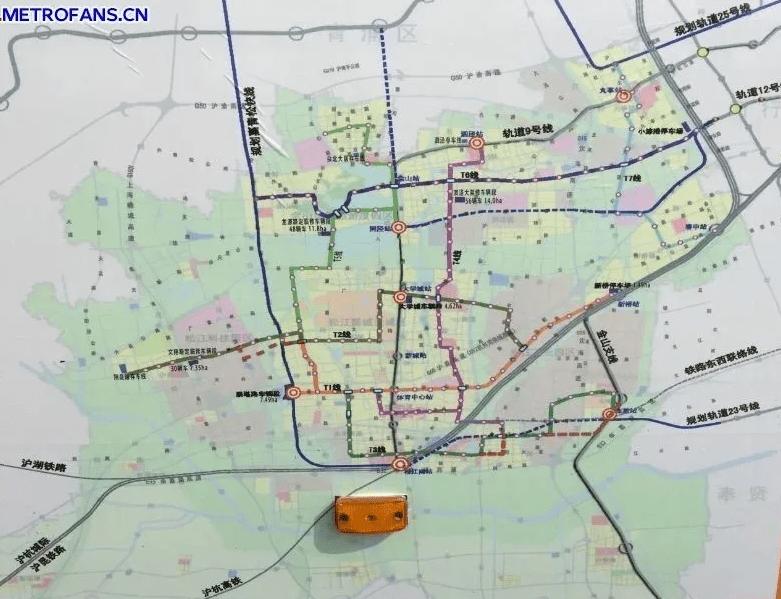(松江2035年轨道交通规划图)