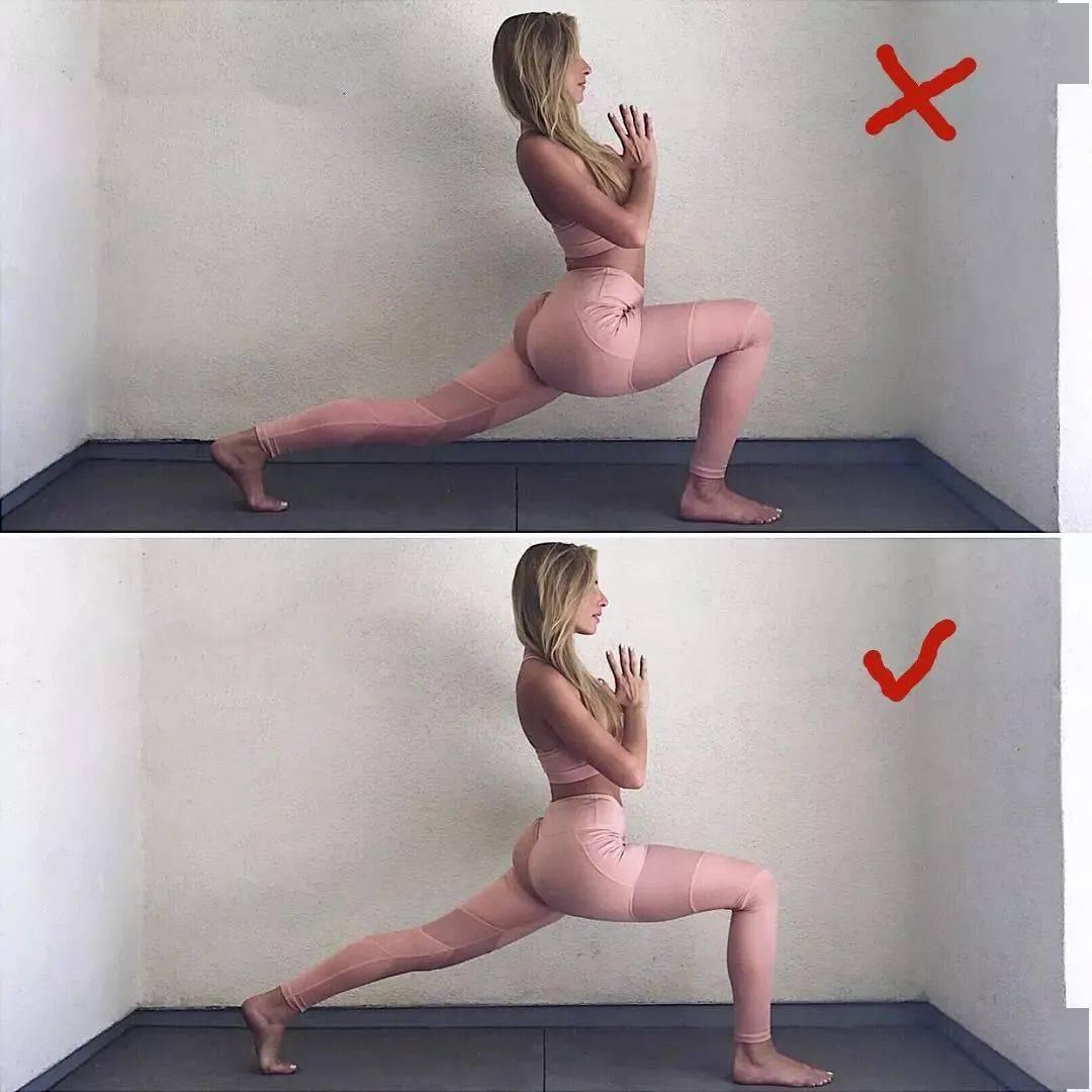 14个最常做错的瑜伽体式正误对比图,你做对了几个? 初级健身 第6张