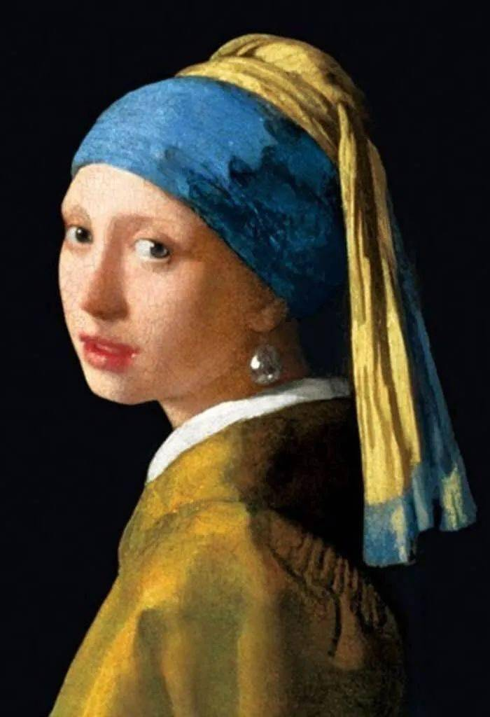 《珍珠耳环少女》-维米尔