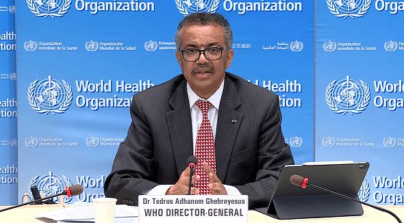 世卫组织:全球新冠肺炎病例数量在过去六周翻了一倍
