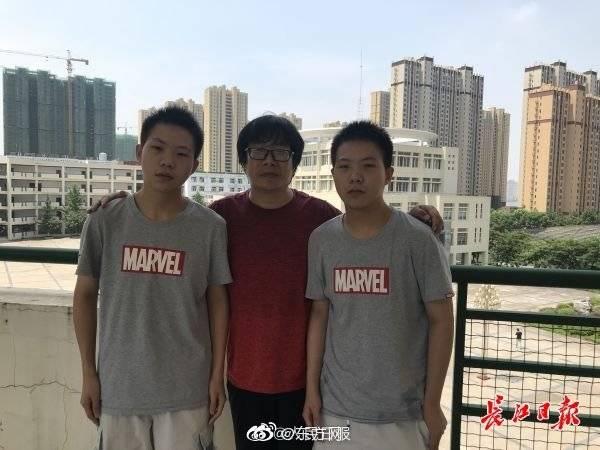 连分数都一模一样!武汉双胞胎兄弟高考同考664分