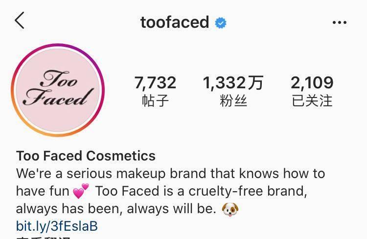 《雅诗兰黛旗下美式彩妆品牌Too Faced进军中国市场》