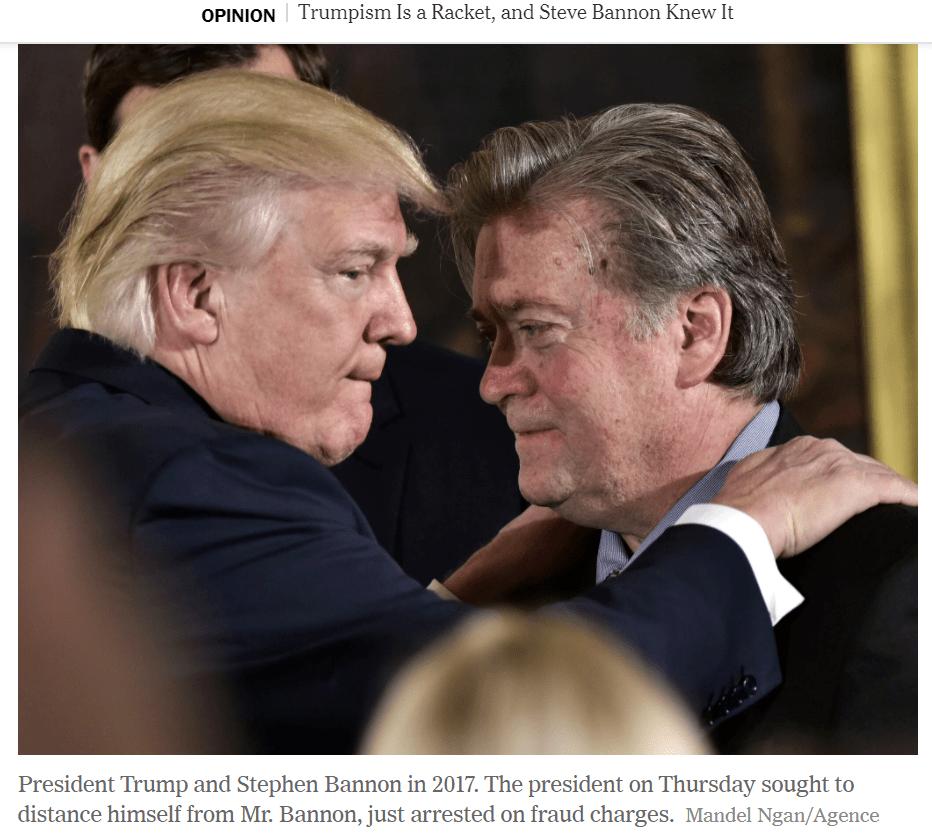 """前""""白宫师爷""""被捕,特朗普曾称他是自己""""最好的学生"""",如今急忙撇清关系"""
