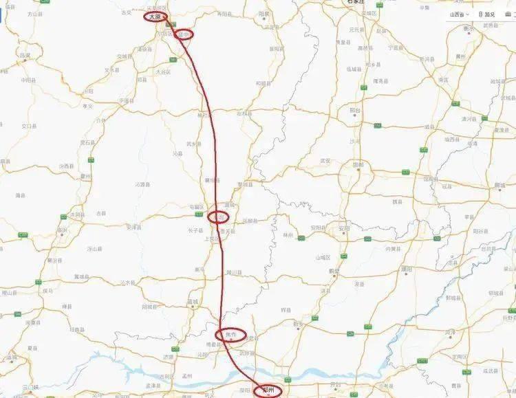 太焦高铁线路接入太原南站,太郑高铁通车时间确定 还有票价图片