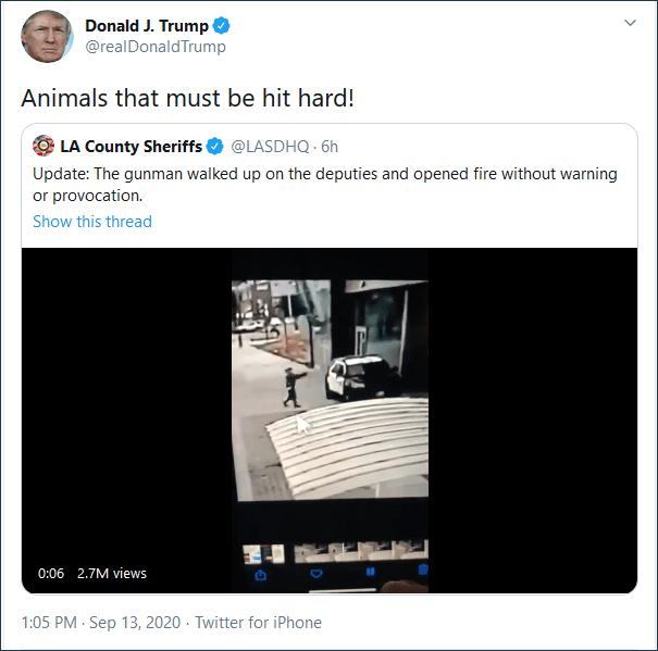 特朗普怒了:畜生!