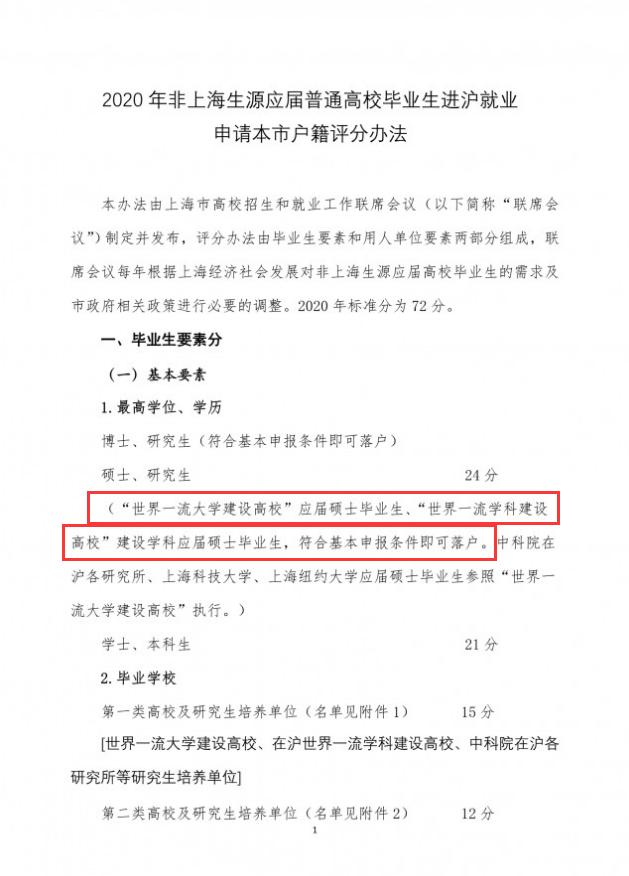 重磅!复旦、上海交大、同济、华师大4所大学应届毕业生可直接落户上海
