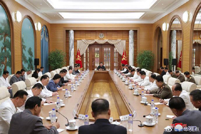 朝鲜劳动党政治局会议举行,讨论疫情防控和灾后重建等事项