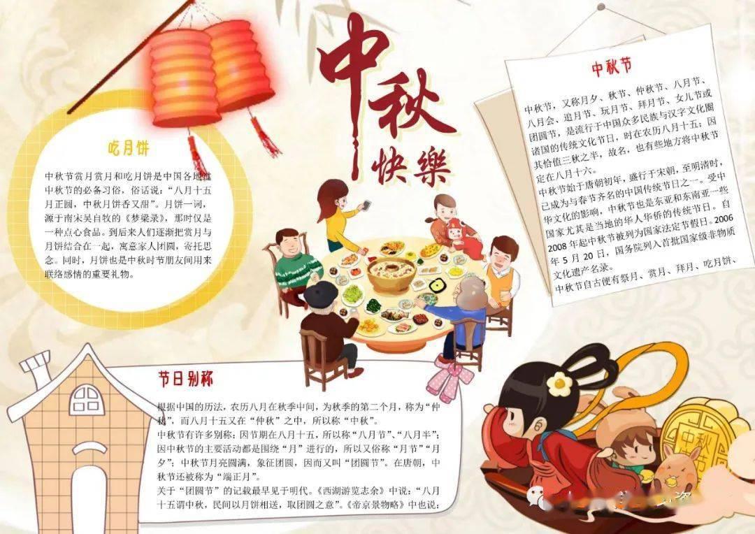 迎国庆庆中秋双节黑板报