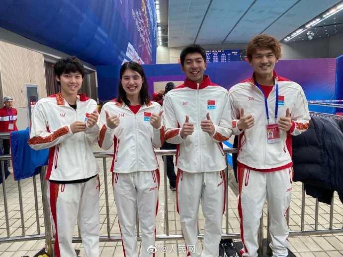 中国创造了男子和女子4X100混合游泳接力