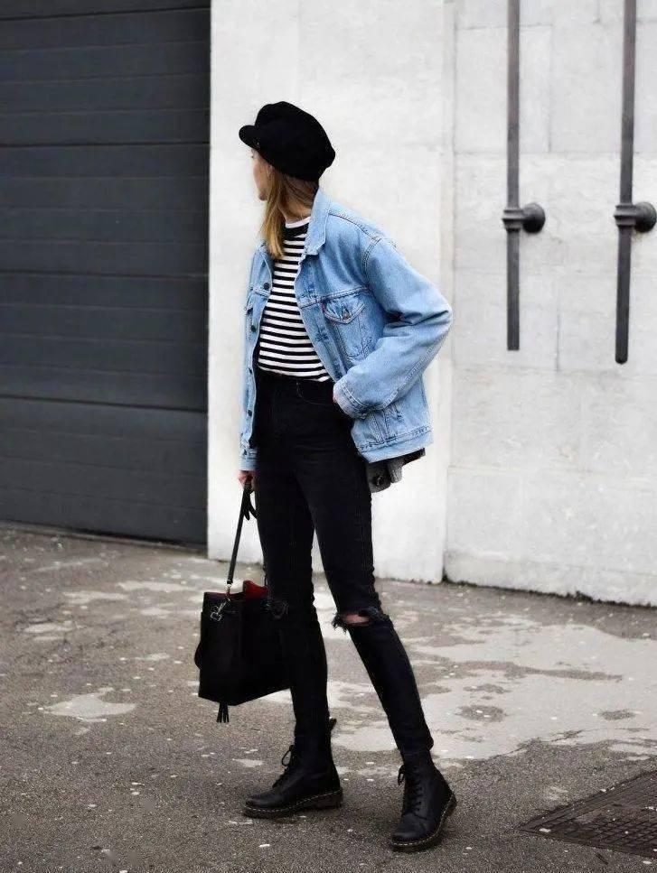 马丁靴+裙子,马丁靴+工装裤……又酷又撩,时髦炸了!     第57张