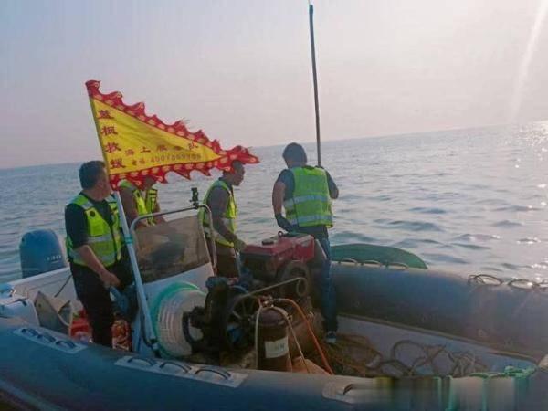 东营港海域发现一名遇难者,救援队紧急出动