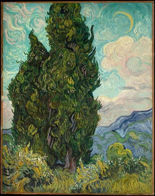 文森特·凡·高与受到质疑的《麦田里的柏树》