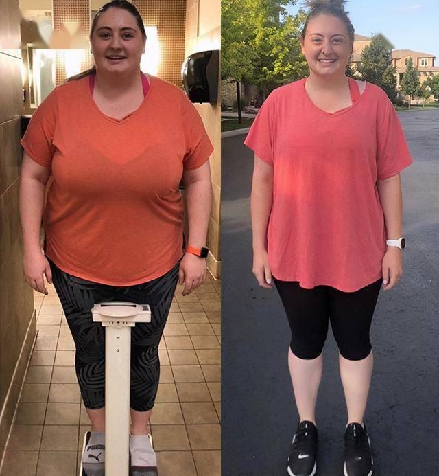 体重300斤的女生,减肥22个月减掉95斤,看她是如何减肥的