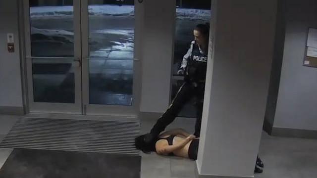 加拿大女警凌虐华裔女留学生 拖行半裸女留学生视频流出
