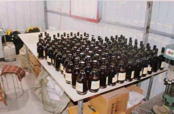 石家庄新乐警方破获一起制售国际知名品牌假洋酒案