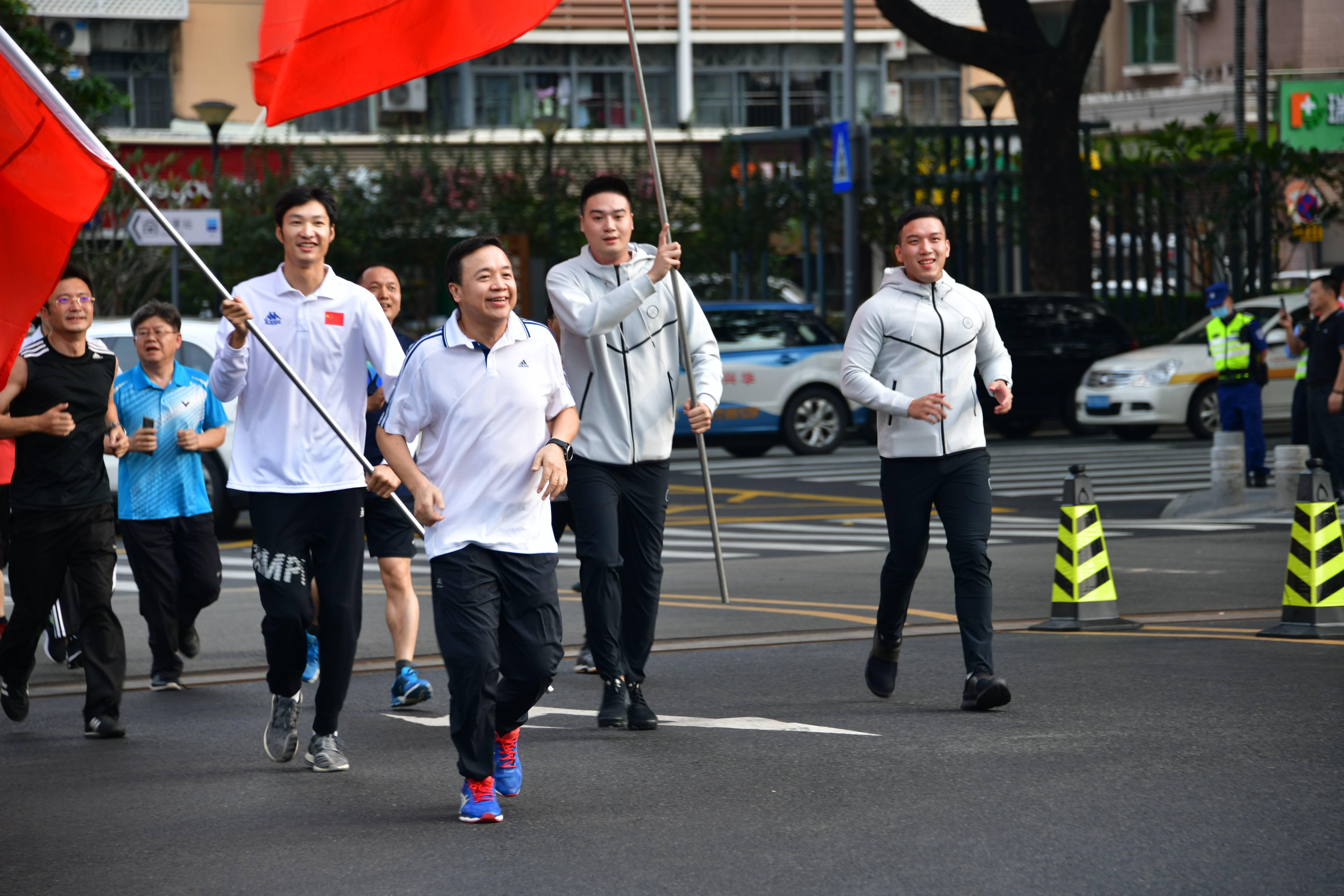 奥运冠军任旗手,深圳第41届市民长跑日福田分会场活动启动