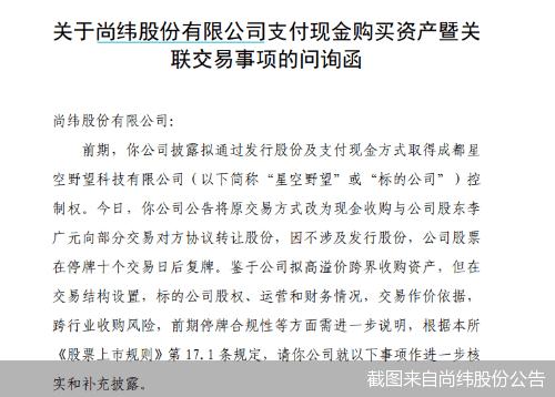四问尚纬股份控股罗永浩直播平台星空野望
