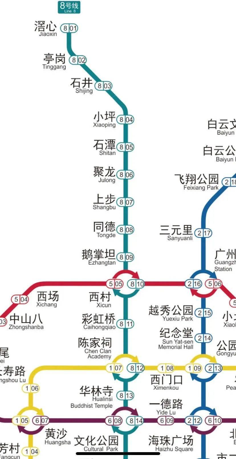 八号线北延段开通在即,陈家祠站到底有几个出口?