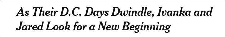 """百事3注册离开白宫后,""""第一女儿""""伊万卡一家新去向"""
