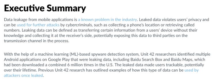 Unit42报告原文解析:百度地图泄露数据报道不实